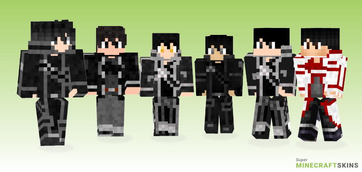 Kirito Minecraft Skins - Best Free Minecraft skins for Girls and Boys