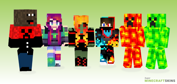 Lava Minecraft Skins - Best Free Minecraft skins for Girls and Boys