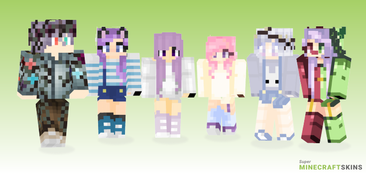 Lavender Minecraft Skins - Best Free Minecraft skins for Girls and Boys