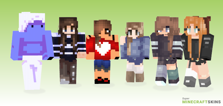 Lazy Minecraft Skins - Best Free Minecraft skins for Girls and Boys