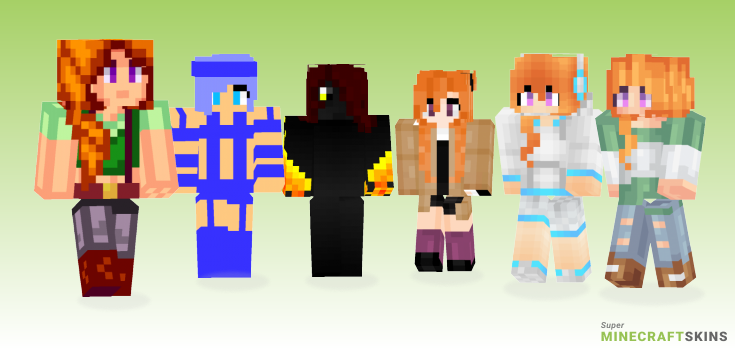 Leah Minecraft Skins - Best Free Minecraft skins for Girls and Boys