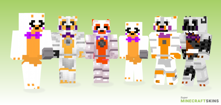 Lolbit Minecraft Skins - Best Free Minecraft skins for Girls and Boys