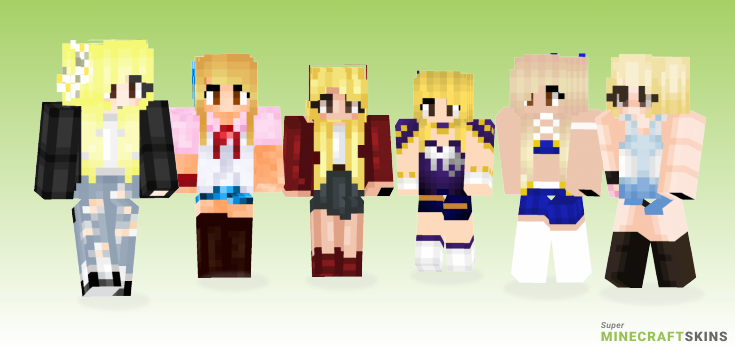 Lucy heartfilia Minecraft Skins - Best Free Minecraft skins for Girls and Boys