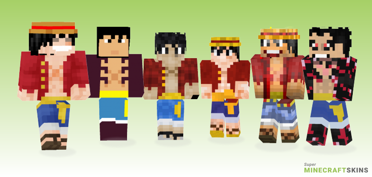 Luffy Minecraft Skins - Best Free Minecraft skins for Girls and Boys