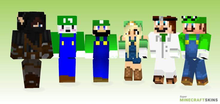 Luigi Minecraft Skins - Best Free Minecraft skins for Girls and Boys