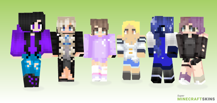 Luna Minecraft Skins - Best Free Minecraft skins for Girls and Boys