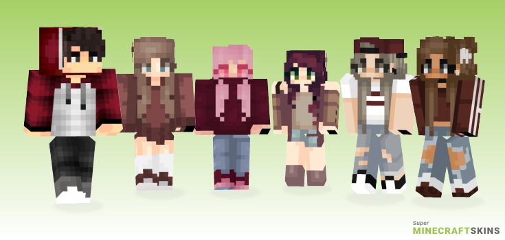 Maroon Minecraft Skins - Best Free Minecraft skins for Girls and Boys