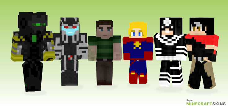 Marvel Minecraft Skins - Best Free Minecraft skins for Girls and Boys