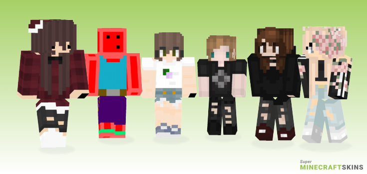 Meee Minecraft Skins - Best Free Minecraft skins for Girls and Boys