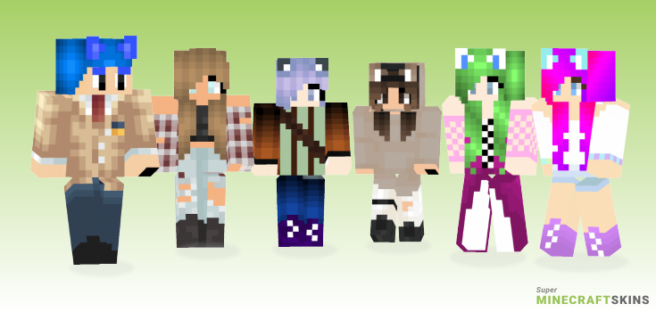 Meifwa Minecraft Skins - Best Free Minecraft skins for Girls and Boys