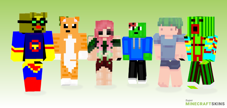 Melon Minecraft Skins - Best Free Minecraft skins for Girls and Boys