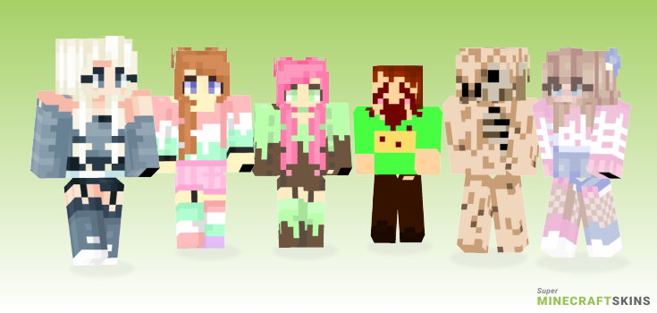 Melting Minecraft Skins - Best Free Minecraft skins for Girls and Boys