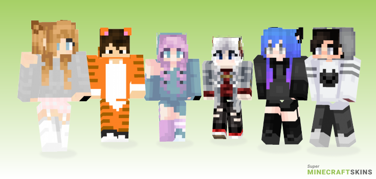 Meow Minecraft Skins - Best Free Minecraft skins for Girls and Boys