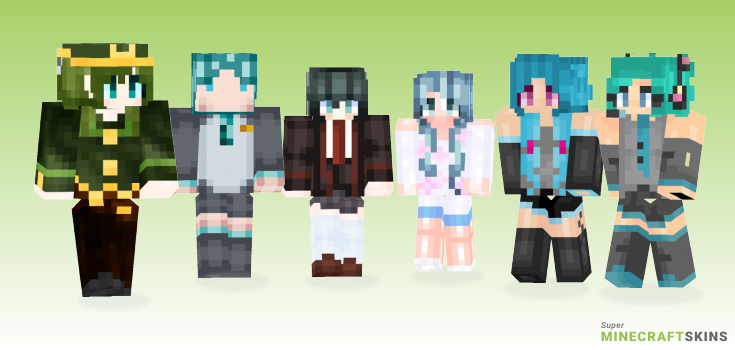 Miku Minecraft Skins - Best Free Minecraft skins for Girls and Boys