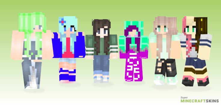 Minty Minecraft Skins - Best Free Minecraft skins for Girls and Boys
