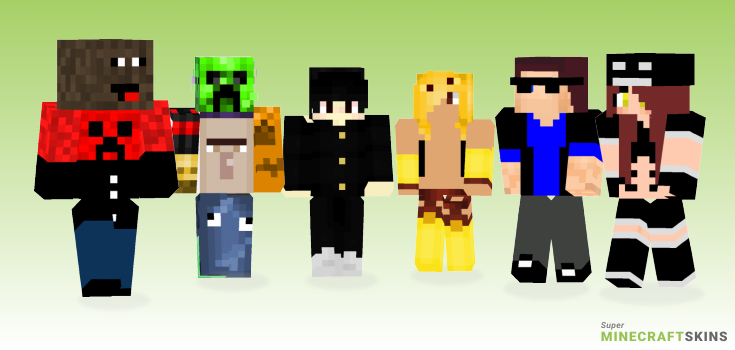 Mob Minecraft Skins - Best Free Minecraft skins for Girls and Boys