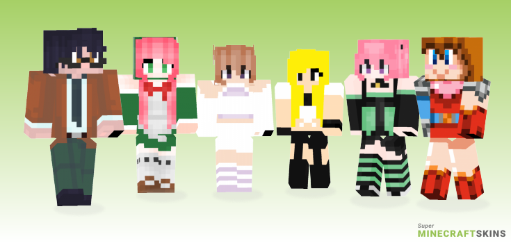 Momo Minecraft Skins - Best Free Minecraft skins for Girls and Boys