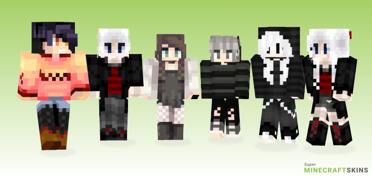 Monochrome Minecraft Skins - Best Free Minecraft skins for Girls and Boys