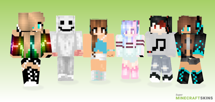 Music Minecraft Skins - Best Free Minecraft skins for Girls and Boys