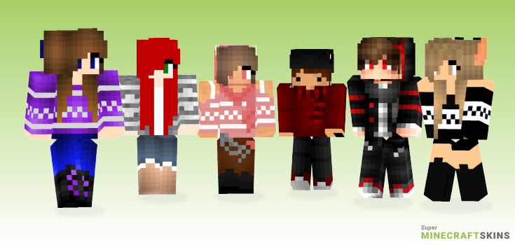 My winter Minecraft Skins - Best Free Minecraft skins for Girls and Boys