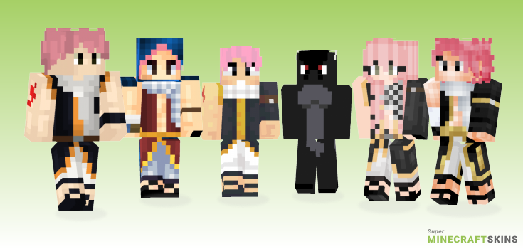 Natsu Minecraft Skins - Best Free Minecraft skins for Girls and Boys