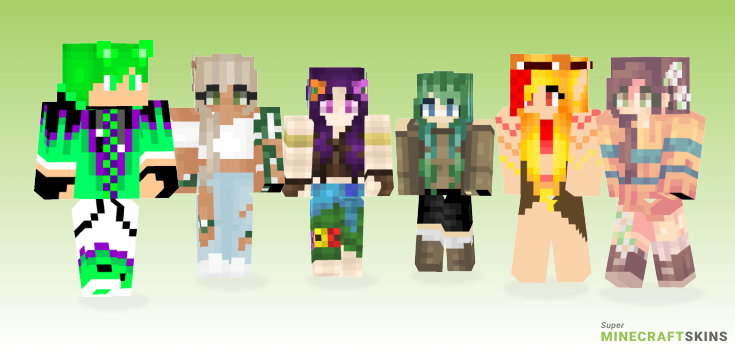 Nature Minecraft Skins - Best Free Minecraft skins for Girls and Boys