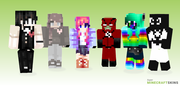 Negative Minecraft Skins - Best Free Minecraft skins for Girls and Boys
