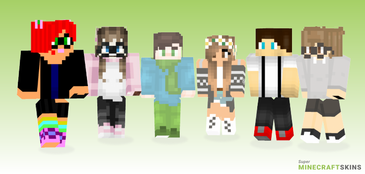 Nerd Minecraft Skins - Best Free Minecraft skins for Girls and Boys