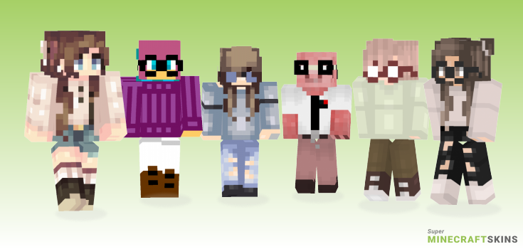 Nerdy Minecraft Skins - Best Free Minecraft skins for Girls and Boys