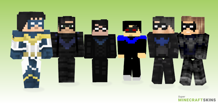Nightwing Minecraft Skins - Best Free Minecraft skins for Girls and Boys