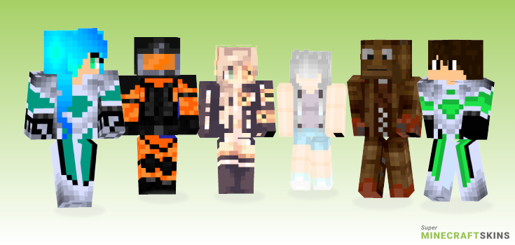 Nine Minecraft Skins - Best Free Minecraft skins for Girls and Boys