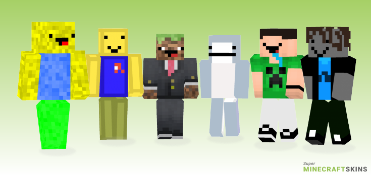Noob Minecraft Skins - Best Free Minecraft skins for Girls and Boys