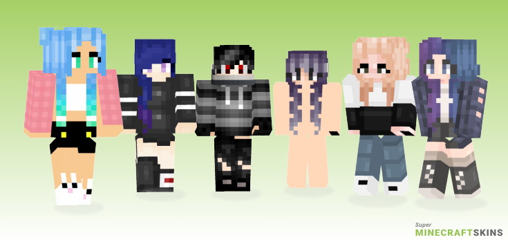 Ombre Minecraft Skins - Best Free Minecraft skins for Girls and Boys