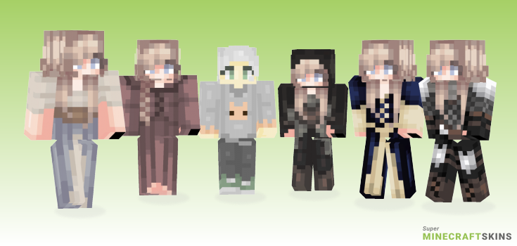 Ophelia Minecraft Skins - Best Free Minecraft skins for Girls and Boys