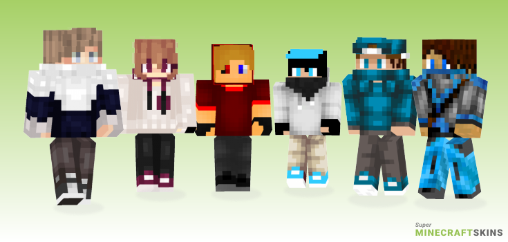 Parkour Minecraft Skins - Best Free Minecraft skins for Girls and Boys