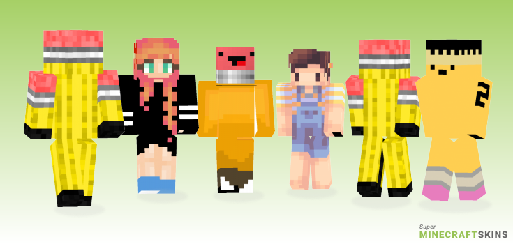 Pencil Minecraft Skins - Best Free Minecraft skins for Girls and Boys