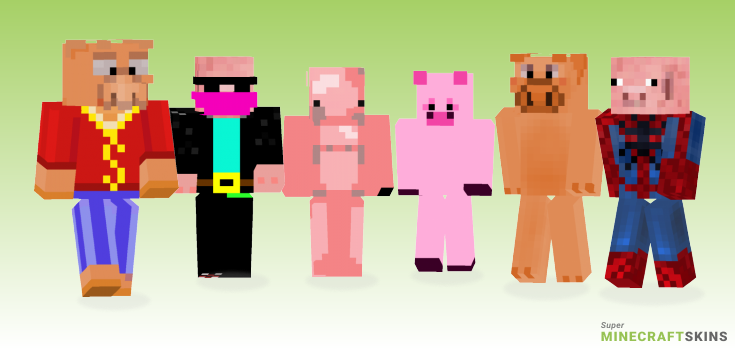 Pig Minecraft Skins - Best Free Minecraft skins for Girls and Boys