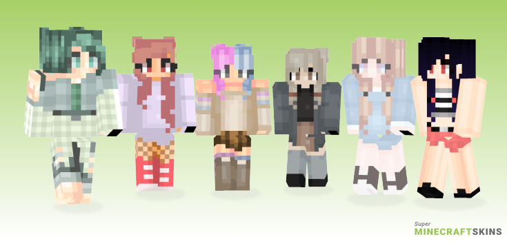 Pigtails Minecraft Skins - Best Free Minecraft skins for Girls and Boys