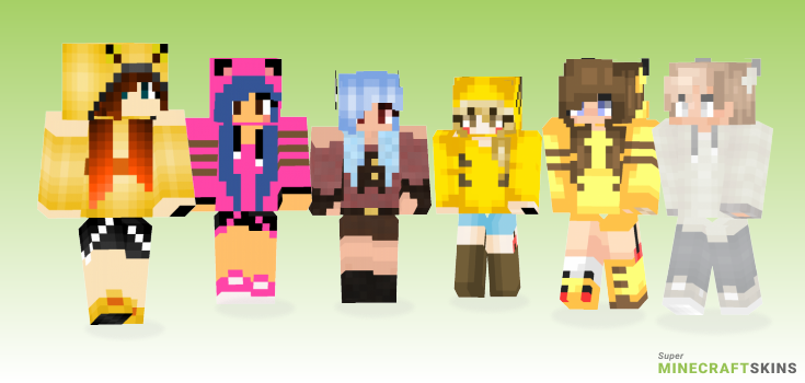 Pika Minecraft Skins - Best Free Minecraft skins for Girls and Boys