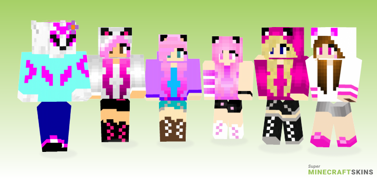 Pink wolf Minecraft Skins  Download for free at