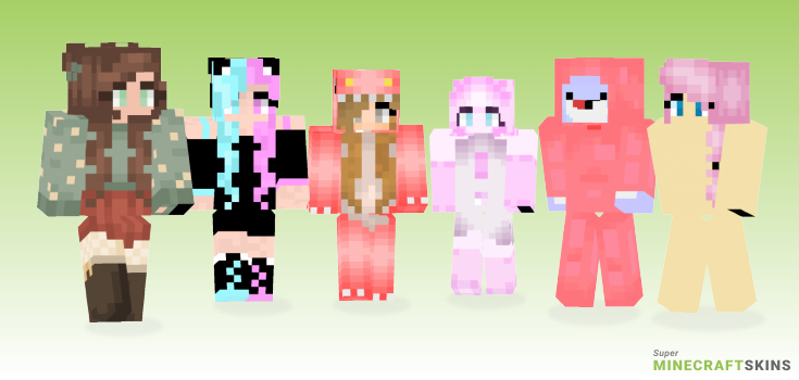Pink Minecraft Skins - Best Free Minecraft skins for Girls and Boys