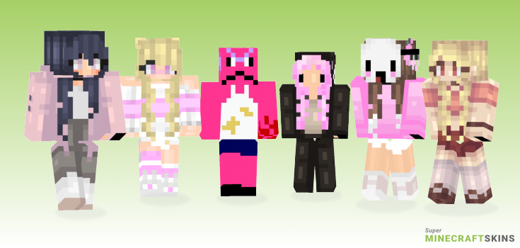 Pinky Minecraft Skins - Best Free Minecraft skins for Girls and Boys