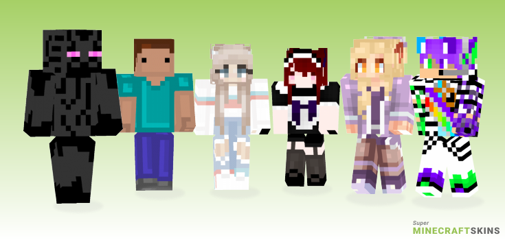 Pixel Minecraft Skins - Best Free Minecraft skins for Girls and Boys