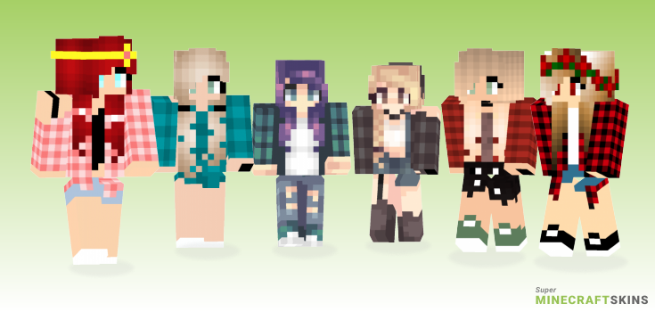 Plaid Minecraft Skins - Best Free Minecraft skins for Girls and Boys