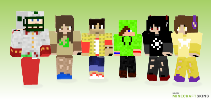 Player Minecraft Skins - Best Free Minecraft skins for Girls and Boys
