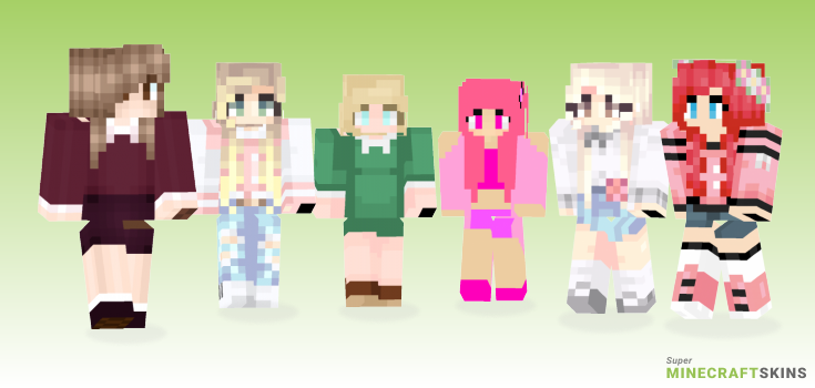 Preppy Minecraft Skins - Best Free Minecraft skins for Girls and Boys