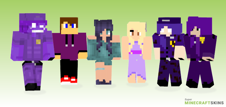 Purple Minecraft Skins - Best Free Minecraft skins for Girls and Boys