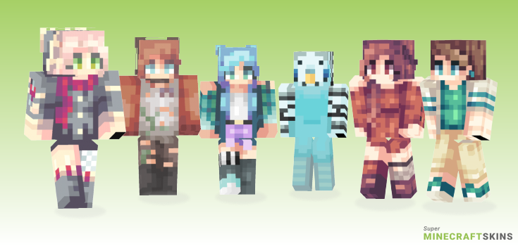 Raffle Minecraft Skins - Best Free Minecraft skins for Girls and Boys