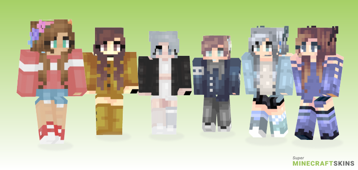 Rainy Minecraft Skins - Best Free Minecraft skins for Girls and Boys