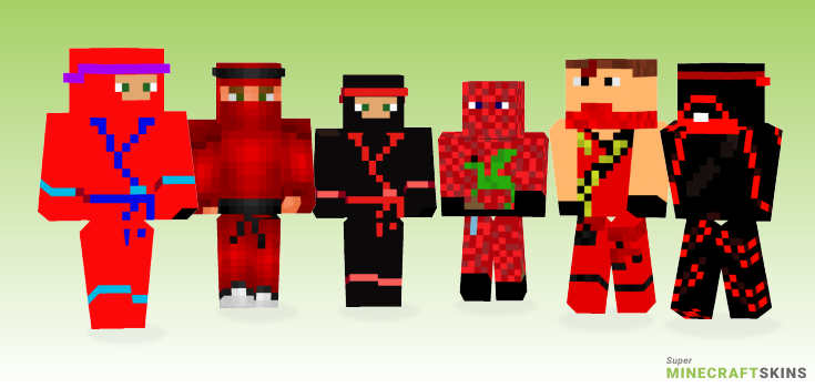 Red ninja Minecraft Skins - Best Free Minecraft skins for Girls and Boys